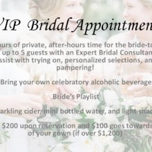 220x220 sq 1506550896741 vip bridal appointments