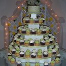 130x130 sq 1277695692913 greenwhitecupcakeweddingcakers10
