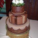 130x130 sq 1293861540546 chocolategoldweddingcakers10