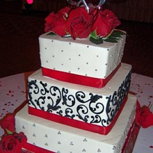 220x220 sq 1310610548062 damaskredweddingcakers11