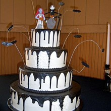 220x220 sq 1310610952874 nightmarebeforechristmashalloweenweddingcakers10