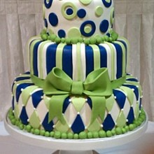 220x220 sq 1326160998521 royalbluegreenwimsyweddingcakers11
