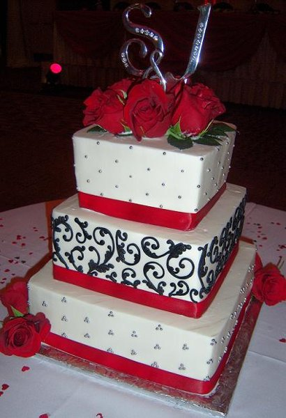 red and white square wedding cakes damask driverlayer search engine 19094