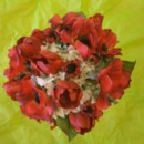 130x130 sq 1388695074908 silk red anemone and white hydrangea bouque