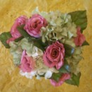 130x130 sq 1388695085085 silk white and green hydrangea and pink rose bouqu