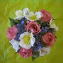 130x130 sq 1388695095136 silk white anemone pink rose and blue hydrangea bo