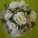 130x130 sq 1388695142938 silk white rose and green hydrangea bouque