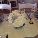 130x130 sq 1400841761691 centerpiece white ivory hydrangea  dusty miller in