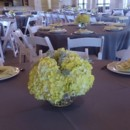 130x130 sq 1400841797719 centerpieces pale yellow hydrangea  dusty mille