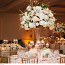 130x130 sq 1418231096645 ivory rosette with centerpiece