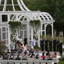 220x220 sq 1494003276143 birchwood manor pergola ceremony ginaleonardo ww