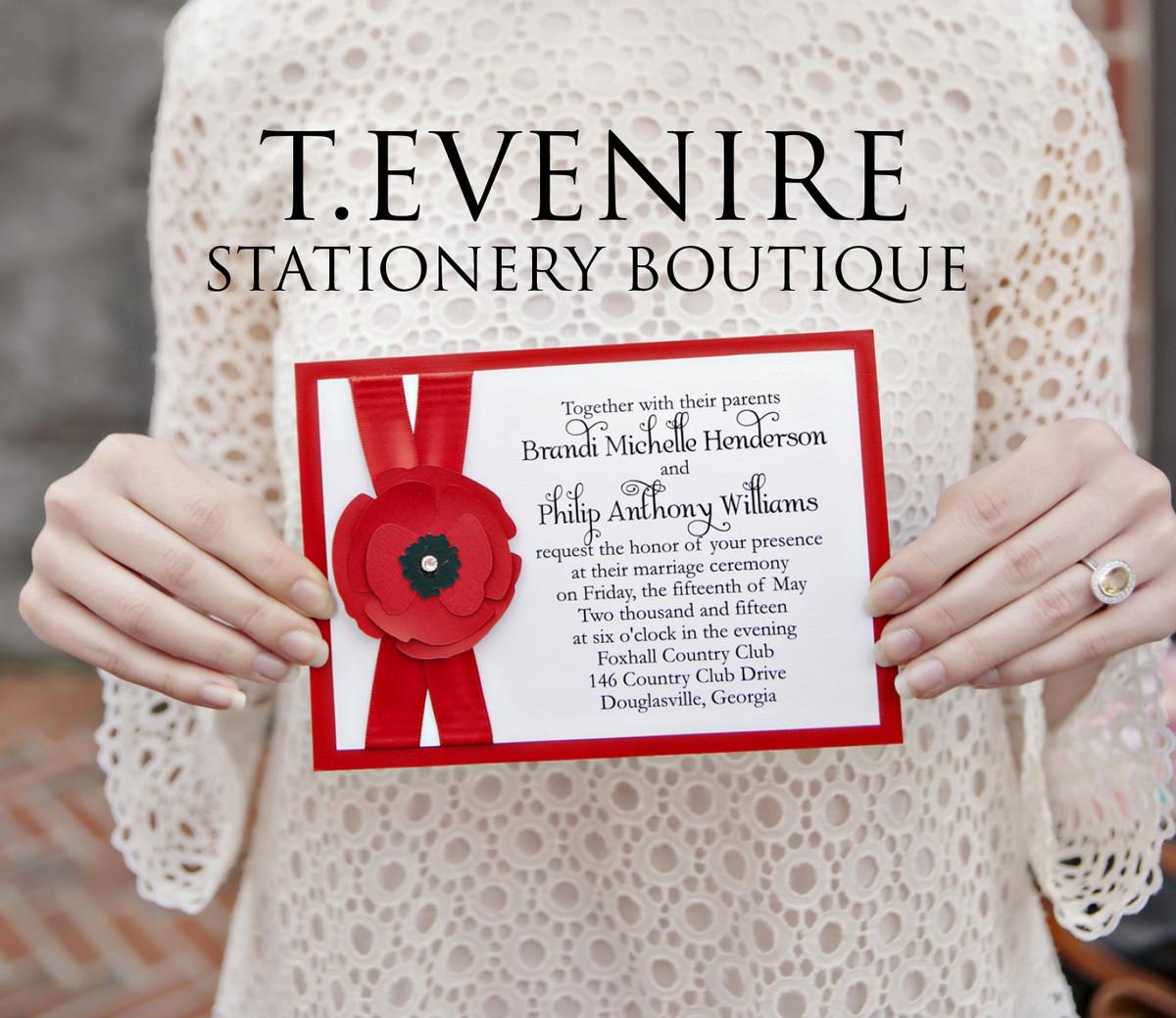 T.evenire Stationery Boutique - Invitations - Atlanta, GA - WeddingWire