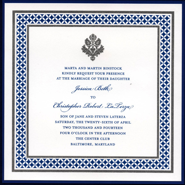 Wedding Invitations In Maryland: The Pleasure Of Your Company