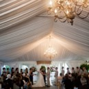 130x130 sq 1450816333453 tent ceremony   sheer lining with chandeliers