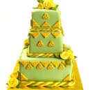 130x130 sq 1213752262246 weddingcakegreen gold di(1)