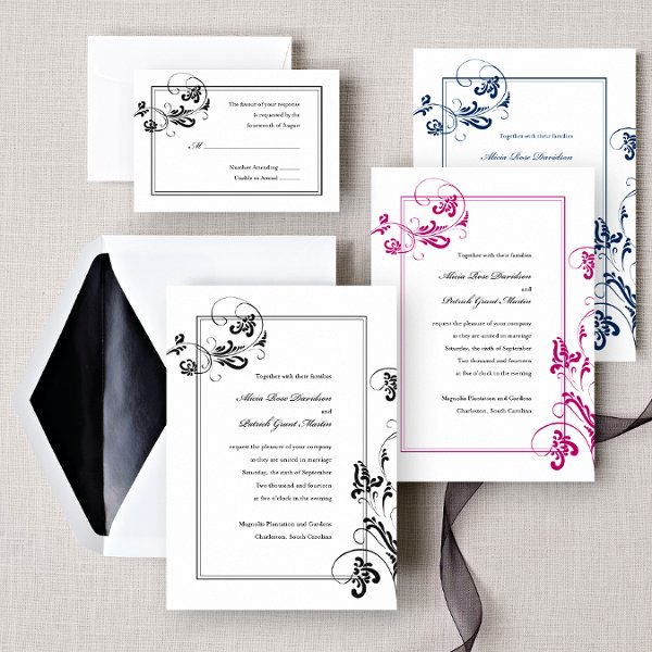 Flourishing Love - Inspired from our very own Extraordinary Love design, Flourishing Love was created to give our customers endless flexibility while keeping the popularity and romance of elegant swirling flowers and vines. Order Your Free Sample Today!