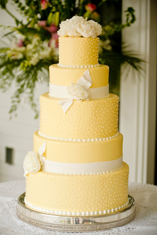 Shabby Chic Yellow Garden Round Wedding Cakes Photos & Pictures ...