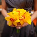 130x130 sq 1288273341331 naturalbeautiesfloralinc.yelloworchidbridesmaidbouquet