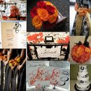 130x130 sq 1288620806295 weddinginspirationboardorangeanddamaskbw