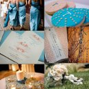 130x130 sq 1288623028263 weddinginspirationboardblueandcreamyorange