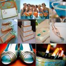 130x130 sq 1288623037748 weddinginspirationboardorangeandteal