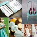 130x130 sq 1288623046185 weddinginspirationboardpurpleandteal