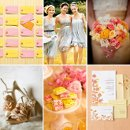 130x130 sq 1297116644983 pinkyelloworangeweddinginspiration