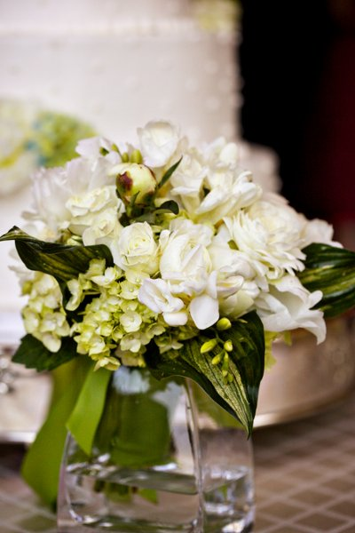 Green White Centerpiece Centerpieces Wedding Reception Photos & Pictures -  WeddingWire.com