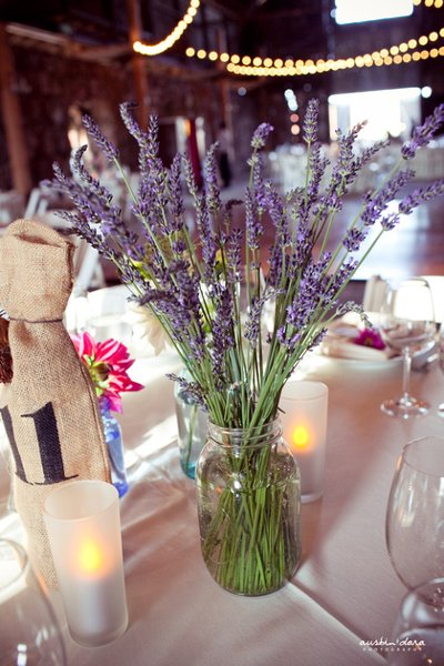 Rustic Purple Centerpiece Centerpieces Wedding Flowers Photos ...