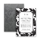 130x130 sq 1421875054711 katarina flocked wedding invitation modern damask