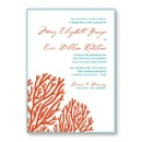 130x130 sq 1421875115142 coral beach wedding invitation