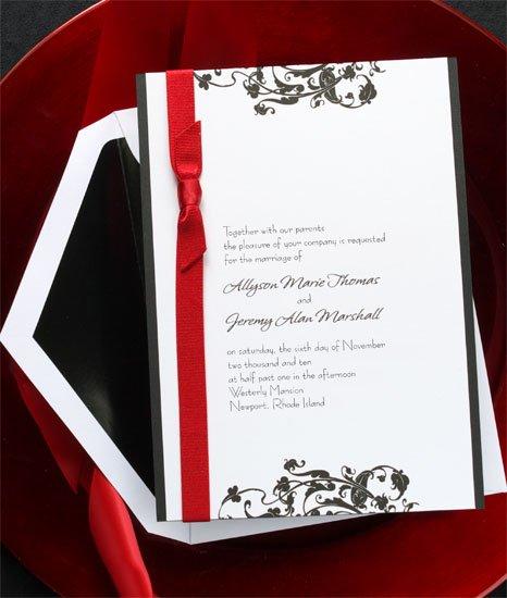 Red Black And White Wedding Invitations as beautiful invitation design