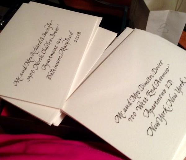 Calligraphy By Nancy Baltimore Md Wedding Invitation