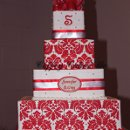 4 tier square serving 165 iced in buttercream