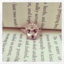130x130 sq 1398964465579 morganite rose gold engagement ring