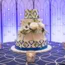 130x130 sq 1449566946930 blue and white cake