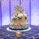 130x130 sq 1449566946930 blue and white cake