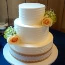 130x130 sq 1449567013145 burlap ribbon cake