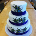 130x130 sq 1449567205065 peacock feather cake