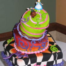 220x220 sq 1449566907031 alice in wonderland cake