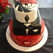 220x220 sq 1449567156400 james bond cake