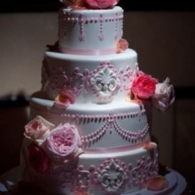 220x220 sq 1449567208915 pink english style cake