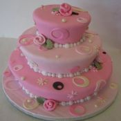 220x220 sq 1449567220567 pink tapered cake