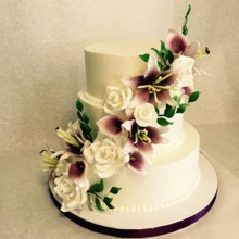 220x220 sq 1449567307123 sugar flower cake