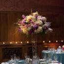 130x130 sq 1401824793657 high centerpiece blue linen