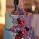 130x130 sq 1395006383022 blue purple and white wedding cake   a memory lane