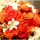 130x130 sq 1395007172699 orange and white bride bouquet   a memory lane eve