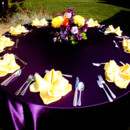 130x130 sq 1395007613480 purple  yellow table scape   a memory lane even