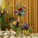 130x130 sq 1422573891792 centerpiecethreetieredgardentrumpetvasesunflowers