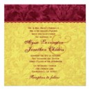Rich Burgundy and Gold Damask Wedding Invitation with Lace Visit http://www.zazzle.com/jaclinart_wedding* to see more.